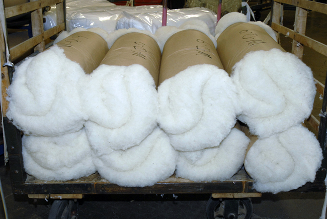 Raw wool waiting to milled.