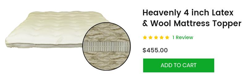 latex and wool mattress topper