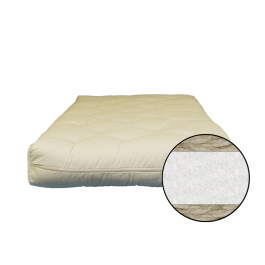 4 inch Cotton and Wool Fiber Futon - Mattress