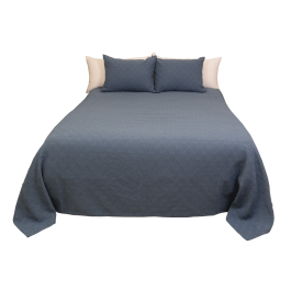 Rombos Blue Bedspread and Sham