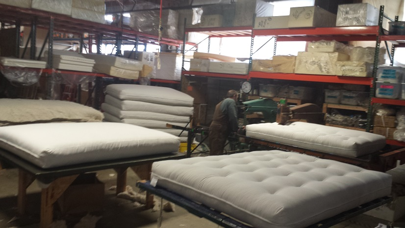 A completed futon just off the manufacturing line